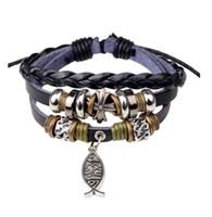 стиль здоровья оптовых-Новый черный и коричневый случайные ювелирные изделия ручной работы yesuhejinxiaoyu браслет крест бисером стиль с здравоохранения кожаный браслет