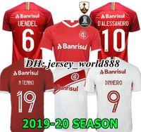 top club jersey venda por atacado-NOVO 19 20 Brasil CLUB Internacional camisa de futebol RED HOME 2019 2020 camisa de futebol cinza de mulher WOMAN N. LOPEZ D.ALESSANDRO POTTKER TOP