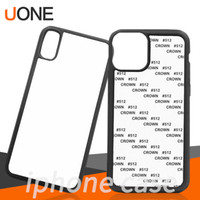 Wholesale sublimation mobile cover online – custom Blank D Sublimation TPU PC cases Heat Transfer Mobile Phone Case Cover for iPhone Pro Max plus X xs xr xs max with Aluminum Inserts