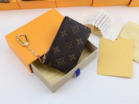 Wholesale zipper jewelry box resale online - Men s Jewelry Stainless Steel Leather Fashion Design Keychain Top Quality Keychain Men s Men s Gift Box