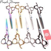 conjuntos de tesouras de cabeleireiro venda por atacado-Tesoura de cabelo profissional 6