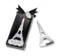 ingrosso torri di scatola-Romantico Souvenir di nozze Paris Eiffel Tower Apribottiglie Novità Festa di nozze Bomboniere con scatola di imballaggio al dettaglio SN3017