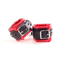 Wholesale bdsm hand cuffs resale online - New arrival black with red sex binding Sponge Hand cuffs Ankle Cuffs bdsm bondage sex toys for couples adult games sex products