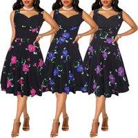 ingrosso migliori modelli di vestiti-Fairy2019 New Suit-dress Summer Pattern Ripristina i modi antichi Best Sellers Abito senza maniche da donna