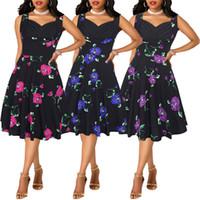 en iyi elbise desenleri toptan satış-Fairy2019 Yeni Suit-elbise Yaz Desen Restore Antik Yollar En Iyi Satılanlar Kolsuz Baskı Elbise Kadın