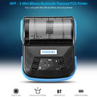 yazıcı desteği toptan satış-GOOJPRT MTP-3 Taşınabilir 80mm Bluetooth Termal Yazıcı Zarif Hafif Tasarım Desteği Android Çoklu dil AB / ABD Plug