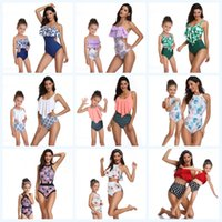 Wholesale mommy daughter clothing matching for sale - Mother Daughter Swimwear Mommy and Me Bikini Bathing Swimsuit Beachwear Family Matching Mom Daughter Clothes Look Floral Printed