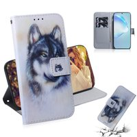Wholesale iphone lion cases online – custom Wallet Case For Samsung S20 Ultra A51 A71 A20S A10S Iphone Pro MAX Aminal Flower Leather Lion Panda Dog Wolf Tiger Owl Slot ID Cover