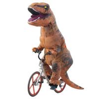 robes de fantaisie adultes achat en gros de-Déguisement de dinosaure gonflable adulte pour Halloween Cosplay Fantasy T REX gonflable Costume Halloween Cosplay costumes Dinosaur VB