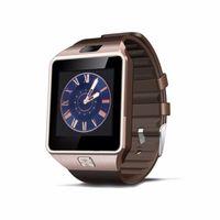 digitaluhren sim-karte großhandel-DZ09 Smartwatch Smart Watch Digital Herrenuhr für Apple iPhone Samsung Android Handy Bluetooth SIM TF-Karte Kamera