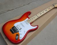 sterngitarrenkörper großhandel-Standard Fabrik Custom Sunburst Body Floyd Rose E-Gitarre mit Star Griffbrett Inlay, SSH Pickups, Floyd Rose, Angebot angepasst