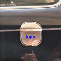 Wholesale honda tank stickers resale online - High quality stainless steel car fuel tank decorative cover oil tank protective sticker with logo For Honda CRV CR V