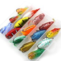 Wholesale lure bodies resale online - Fishing Lures High Quality colors Topwater Frog and Mouse Hollow Body Soft Fishing Lures Bass Hooks Baits Tackle Set and