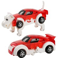 Wholesale toy dogs for children for sale - Group buy 1 diecasts toy vehicles track changed into a dog toy chain on the boy car collection toys for children red blue green