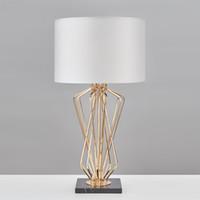 современные настольные лампы оптовых-Современная настольная лампа для гостиной Современная настольная лампа прикроватная лампа lampara de mesa Настольная лампа с металлическим покрытием Выбор дизайнера R45