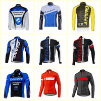 Wholesale team cycling clothing sale resale online - GIANT team Cycling long Sleeves jersey Breathable Racing Bicycle men s Hot Sale sweatshirt comfort riding clothes D2442