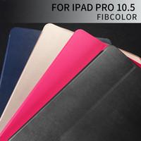 wasserdichtes hartes gehäuse porzellan großhandel-Ultra Thin Shockproof Flip Case für iPad Air 2 / Pro / 10.5 / 12.9 Zoll Case Shell Smart Auto Sleep / Wake Up PU Leder + TPU Ständer Schutzhülle