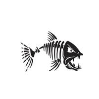 ingrosso adesivi per la pesca in vinile-Pesce Pesca Scheletro Ossa Cranio Auto Auto Adesivo Adesivo Adesivi belli e freddi Vinile Car Wrap