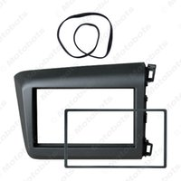 kits de tableau de bord honda achat en gros de-Car Radio fascia Cadre DVD 2Din panneau d'interface stéréo Kit d'installation Reposer pour HONDA Civic (RHD) 2011-2013 Cadre Dash # 4937