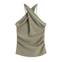 modellbekleidung weste großhandel-Ärmellose Halskette Jacke für den Sommer mit sexy nackten Rücken und schlanke dreidimensionale Hosenträger Weste New Model 2019