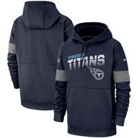 titan sweatshirt toptan satış-Erkek TennesseeTitanlar Otantik sweatshirt Vintage NFLSideline Takım Performansı Kazak Hoodie