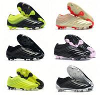 zapatos ag al por mayor-Zapatillas de fútbol para hombre Copa 19 caliente Champagne solar rojo y rojo Botas de fútbol Scarpe Calcio Cleats 19+ 19.1 FG SOCKFIT AG 19 + x 19 Tamaño 39-45