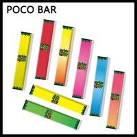 Wholesale cali pods resale online - Original Poco Bar Disposable Pod Device mAh Battery ml Prefilled Vape Pen Stick Empty Colors for Hitt Cali