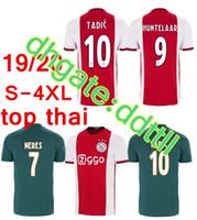 4xl fußball hose großhandel-Größe: S-4XL 2019 2020 Ajax-Heimtrikot-Shorts 19 20 Ajax-Auswärtstrikot-Hosen-Set 2019 # 10 TADIC # 34 NOURI # 25 DOLBERG-Fußballuniform