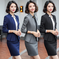 Wholesale office clothing for xl size online - Formal Business Summer Clothes For Women Suits office Sets with Skirt Ensemble Femme Pieces Pantalon Elegant Plus Size