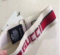 Wholesale branded scarves china resale online - Designer Elastic Headband for Women and Men Best Quality Brand Greed and Red Striped Hair bands Head Scarf For Women Girl Headwraps kk