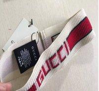marken-schals porzellan großhandel-Designer Elastic Stirnband für Frauen und Männer Beste Qualität Marke Gier und Rot Gestreiften Haarbänder Kopftuch Für Frauen Mädchen Headwraps kk