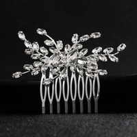Wholesale hair insert comb for sale - Group buy Bride jewelry temperament bride design big diamond comb inserted wild hair comb plate made wedding dress