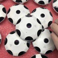 cámara de seguridad gran angular noche al por mayor-Nuevo Lanzamiento de la cámara IP panorámica de 360 grados Fisheye 3D VR 1080P Wifi inalámbrico Cámara de seguridad de 2.4GHZ Soporte súper gran angular Noche IR