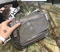 ingrosso cucire piccole borse-Borsa a tracolla niki calda Filo da cucito Borsa a mano in pelle cerata piccola borsa a tracolla piccola da donna 533037 mini patta