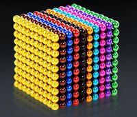 cubo magnetico 216 al por mayor-nuevos juguetes del bebé cubo de la novedad mágica bola magnética juguetes magnéticos para niños y niñas bolas mágicas 216 PC + 6pcs regalos de Navidad para niños