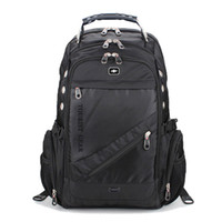 Wholesale swiss laptop resale online - Swiss Gear Unisex Laptop Backpack Triple compartment Business Backpack Fits inch Laptop Sale work School