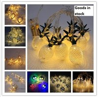 ingrosso luci stringa gufo-Frutta stringa di lampada 10-Lampada Tieyi Lampada Batteria di Natale lampade decorative lampada stringa notte Ananas, gufo, lanterna luce notte