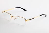 ingrosso occhiali da lettura telaio in titanio-occhiali da vista di lusso da donna Occhiali da lettura Deluxe rettangolare Vintage Titanium Occhiali da vista da uomo