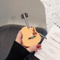 Wholesale wireless for guitar resale online - For airpod2 Case Cover For Apple Air Pods Guitar funny Case Wireless Bluetooth for apple airpod cute D Wireless Cover Box
