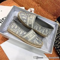 Wholesale hand shoes for sale - Group buy Spring and summer new design jacquard embroidery fisherman shoes hand knitted outsole ladies casual flat shoes Complete package