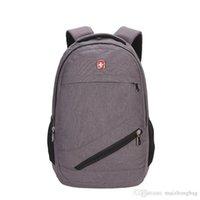 name brand backpack großhandel-Schöne Neue Europäische Designer Rucksack Frauen Männer Tasche Leinwand Berühmte Marke Reise Sport Schule Rucksäcke Klassischen Stil