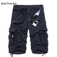 erkekler kargo pantolon satışı toptan satış-Bsethlra 2019 Yeni Erkekler Yaz Sıcak Satış Iş Kısa Pantolon Kamuflaj Askeri Marka Giyim Moda Erkek Kargo Şort 29-40 C19040101