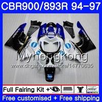 honda cbr 893 fairing toptan satış-HONDA KONICA gövde mavi üst CBR893 RR CBR900RR CBR893RR 94 95 96 97 260HM.17 CBR 893 CBR900 RR CBR 893RR 1994 1995 1996 1997 Fairing kiti