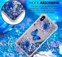 Wholesale dynamic liquid phone cases online – custom Cute Dynamic Cartoon Bling Quicksand Liquid Flowing Glitter Star TPU PC Phone Case Cover Shell For iPhone Plus X XS XR XS Max