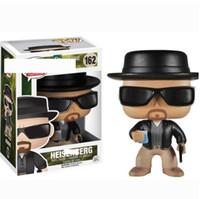 детские игрушки оптовых-Funko Pop Breaking Bad Heisenberg # 162 Фигурки Игрушка с коробкой Коллекционная модель Игрушки для детей Подарок на день рождения Вечеринка Favor GGA2622