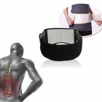 soporte de cintura de calentamiento al por mayor-Tirantes lumbares en la espalda inferior Correa de la correa Correa de alivio para el dolor Alivio de la cintura con turmalina ajustable autocalentable