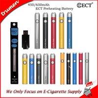 Wholesale variable pen resale online - ECT COS preheating battery mah vape cartridges kit twist variable voltage electronic cigarette vaporizer pen for thick oil atomizer