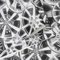 старинные металлические обои оптовых-Прохладная стильные марочные стального круг автомобиля передачи обои металлических индустриальный стиль ресторан кафе фоне обои декор