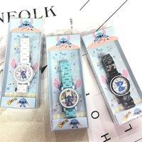водонепроницаемые часы оптовых-JUXU Stitch Star Детские керамические часы Stitch Анак Махасисва Лаки-Лаки Дан Перемпуан Картун Водонепроницаемые керамические часы