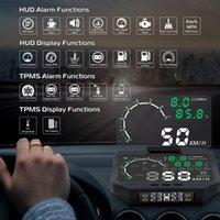 ingrosso visualizzazione del hud dell'automobile del bluetooth-HUD-X30 TPMS 2 in 1 di OBD OBD2 Auto Display pressione dei pneumatici di monitoraggio del sensore Bluetooth sistema TPMS Head Up Display X30